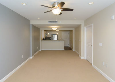 Fair Haven Retirement Community: View of Living Room to Kitchen